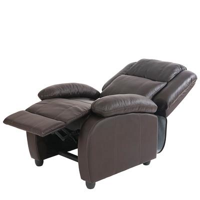 Fernsehsessel Relaxsessel Liege Sessel Lincoln, Kunstleder ~ coffee – Bild 7