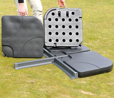 Ampelschirmständer Marktschirmständer für Bodenkreuz, 65kg – Bild 3