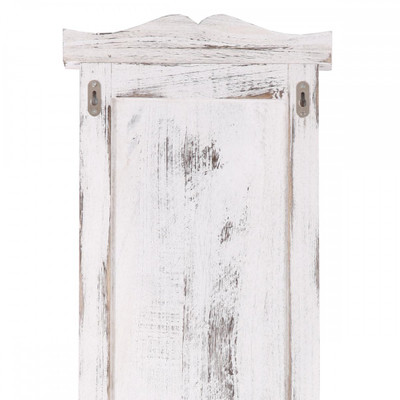 2x Garderobe Wandgarderobe Garderobenpaneel Wandhaken 109x28x4cm ~ weiss shabby – Bild 3
