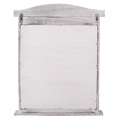 Wandspiegel Spiegelfenster mit Fensterläden 53x42x5cm ~ weiss shabby – Bild 8