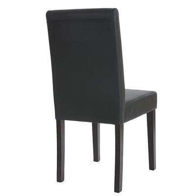 6x Esszimmerstuhl Stuhl Lehnstuhl Littau ~ Kunstleder, schwarz matt, dunkle Beine – Bild 6