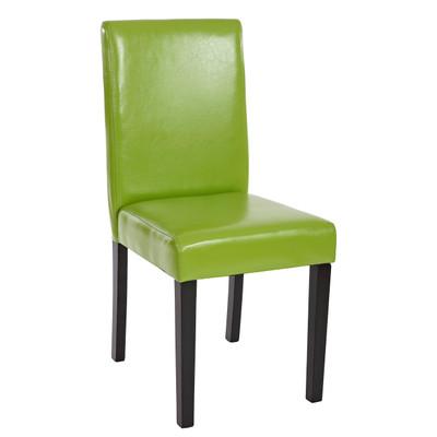 2x Esszimmerstuhl Stuhl Lehnstuhl Littau ~ Kunstleder, grün, dunkle Beine – Bild 2