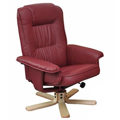 Relaxsessel Fernsehsessel Sessel ohne Hocker M56 Kunstleder ~ bordeaux – Bild 1