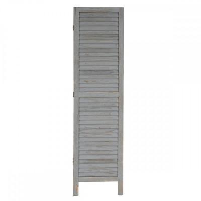 Paravent Raumteiler 170x228x2cm, Shabby-Look, Vintage ~ grau – Bild 3