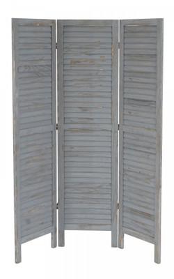 Paravent Raumteiler 170x138x2cm, Shabby-Look, Vintage ~ grau – Bild 4