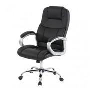 Profi-Bürostuhl Boston XXL Chefsessel Drehstuhl US-Version, 150kg belastbar, Kunstleder ~ schwarz 001