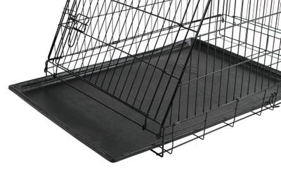 Gittertransportbox, klappbar, schwarz, 92x63x74cm, 2 Türen – Bild 2