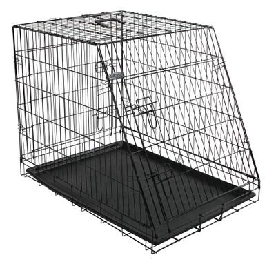 Gittertransportbox, klappbar, schwarz, 92x63x74cm, 2 Türen – Bild 4