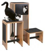 Kratzmöbel Ambiente dunkler Holzdekor/schwarz, 96x87x100cm 001