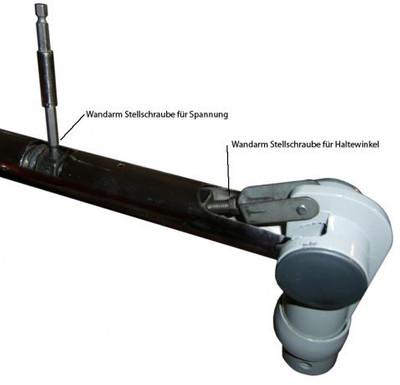 Trockenhaube 1100W 3-Regler antistatic Wandarm silbergrau – Bild 4