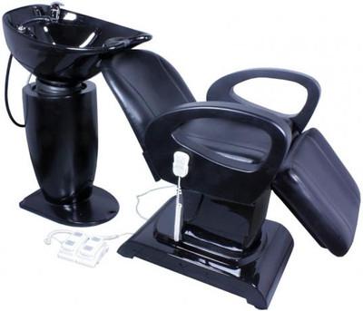 Shampoostation Rückwärtswaschbecken Waschsessel schwarz – Bild 2