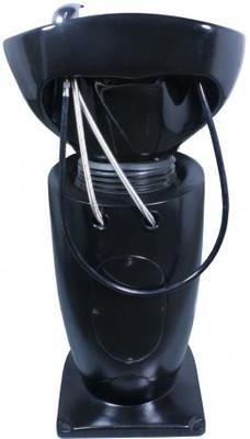 Shampoostation Rückwärtswaschbecken Waschsessel schwarz – Bild 4