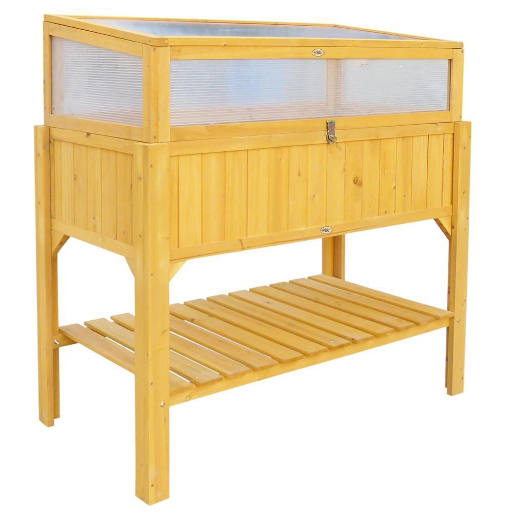 fr hbeet aufsatz f r hochbeet gelb 115 x 53 x 32 cm bei arizondo kaufen. Black Bedroom Furniture Sets. Home Design Ideas