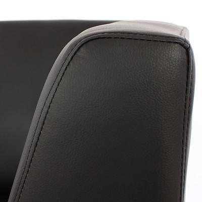 Modular 2-Sitzer Sofa Couch Lyon, Kunstleder ~ schwarz – Bild 8