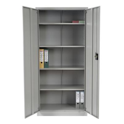 Aktenschrank Boston T130, Metallschrank Büroschrank, 47kg 2 Türen 180x85x40cm ~ grau – Bild 4