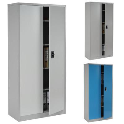 Aktenschrank Boston T130, Metallschrank Büroschrank, 47kg 2 Türen 180x85x40cm ~ grau – Bild 5