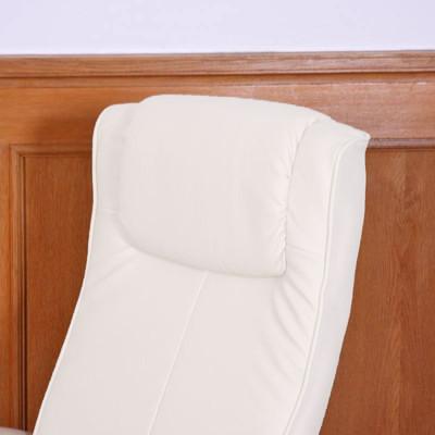 Relaxliege Relaxsessel Fernsehsessel N44 mit Hocker ~ weiss – Bild 6