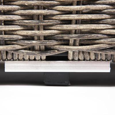 Modulares Poly-Rattan Alu-Sofa RomV ~ naturgrau, Sessel – Bild 6