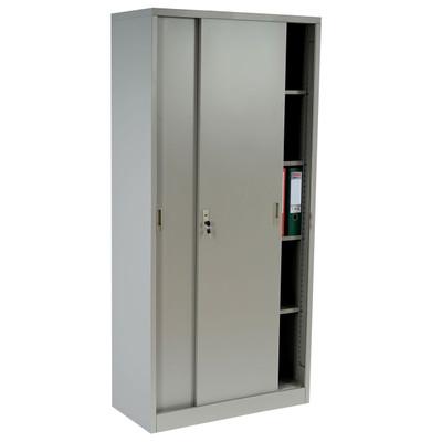 Aktenschrank Boston T131, Metallschrank Büroschrank Stahlschrank, 43kg 180x85x40cm ~ grau – Bild 2
