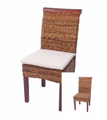 2x Esszimmerstuhl Korbstuhl M45 Stuhl Bananengeflecht ~ hell, ohne Kissen – Bild 5