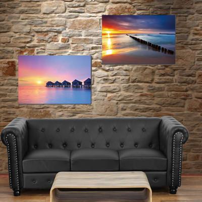 2x LED-Bild mit Beleuchtung Leinwandbild Leuchtbild Wandbild 60x40cm, Timer ~ Vacancy – Bild 7