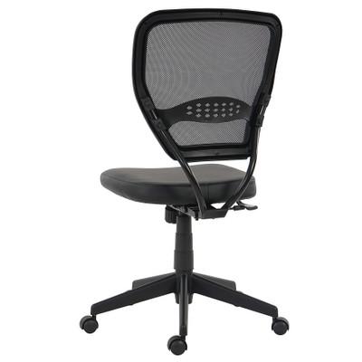 Profi-Bürostuhl Seattle, Chefsessel Drehstuhl, 150kg belastbar, Kunstleder ~ schwarz ohne Armlehnen – Bild 9