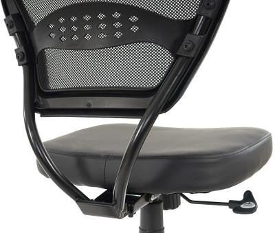 Profi-Bürostuhl Seattle, Chefsessel Drehstuhl, 150kg belastbar, Kunstleder ~ schwarz ohne Armlehnen – Bild 6