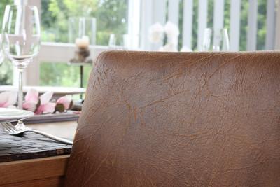 4x Esszimmerstuhl Stuhl Lehnstuhl Littau ~ Textil, Wildlederimitat, helle Beine – Bild 8
