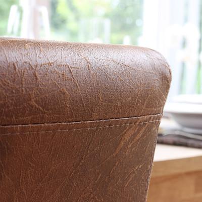 2x Esszimmerstuhl Stuhl Lehnstuhl Littau ~ Textil, Wildlederimitat, helle Beine – Bild 9