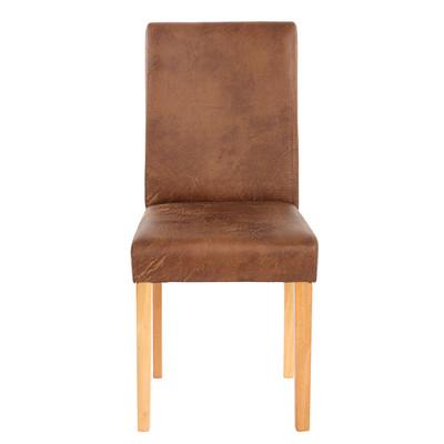 2x Esszimmerstuhl Stuhl Lehnstuhl Littau ~ Textil, Wildlederimitat, helle Beine – Bild 2