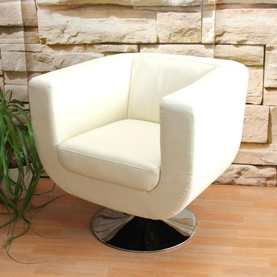 Lounge-Sessel Bar-Sessel Club-Sessel Treviso II ~ creme – Bild 3