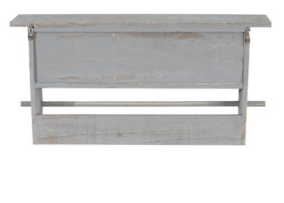 Garderobe Wandgarderobe Wandregal mit 5 Schubladen 32x65x13cm, Shabby Look, Vintage ~ grau – Bild 7