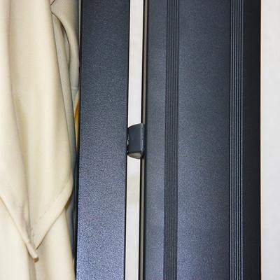 Gastronomie-Luxus-Ampelschirm N22, Aluminium 3,5x3,5m ~ creme ohne Ständer – Bild 3