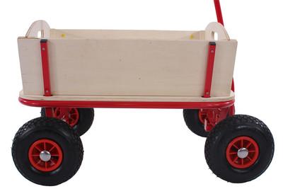 Bollerwagen Handwagen Leiterwagen Oliveira inkl. Sitz, Bremse, Flaschenhalter, Dach Pirat schwarz – Bild 8