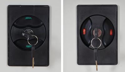 Aktenschrank Boston T130, Metallschrank Büroschrank, 47kg 2 Türen 180x85x40cm ~ creme – Bild 6