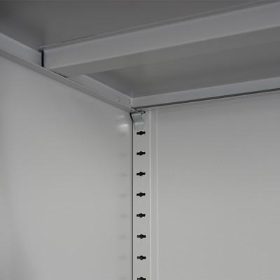 Aktenschrank Boston T130, Metallschrank Büroschrank, 47kg 2 Türen 180x85x40cm ~ blau – Bild 4