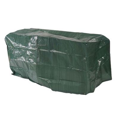 Abdeckplane Abdeckhaube Schutzplane Schutzhülle Regenschutz für Gartenbänke, 140x70x89cm – Bild 1