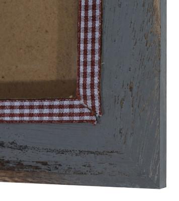 Bilderrahmen T247, Fotorahmen Holzrahmen, 19x24cm Shabby-Look Landhaus  grau – Bild 5