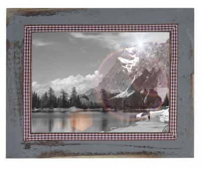Bilderrahmen T247, Fotorahmen Holzrahmen, 19x24cm Shabby-Look Landhaus  grau – Bild 2