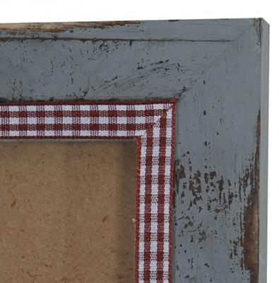 Bilderrahmen Set, Fotorahmen Holzrahmen, 3x 21x26cm 1x 26x36cm 1x 36x51cm Shabby Landhaus ~ grau – Bild 4