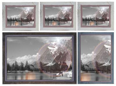 Bilderrahmen Set, Fotorahmen Holzrahmen, 3x 21x26cm 1x 26x36cm 1x 36x51cm Shabby Landhaus ~ braun – Bild 5