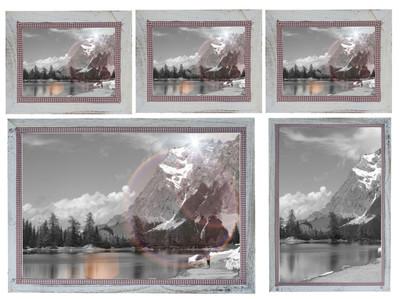 Bilderrahmen Set, Fotorahmen Holzrahmen, 3x 19x24cm 1x 26x36cm 1x 36x51cm Shabby Landhaus ~ weiss – Bild 2