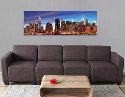 LED-Bild mit Beleuchtung, Leinwandbild Leuchtbild Wandbild, Timer ~ 120x40cm New York, flackernd – Bild 4