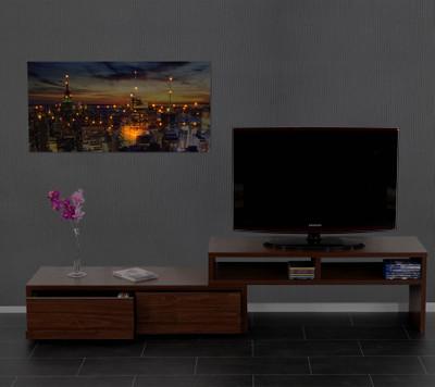 LED-Bild mit Beleuchtung, Leinwandbild Leuchtbild Wandbild, Timer ~ 100x50cm New York, flackernd – Bild 3
