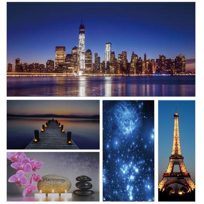 LED-Bild mit Beleuchtung, Leinwandbild Leuchtbild Wandbild, Timer ~ 100x50cm One World Trade Center – Bild 5