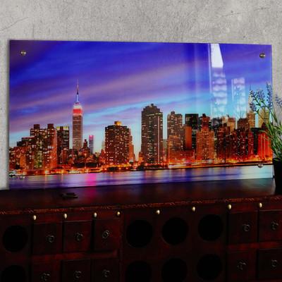 Glasbild T115, Wandbild Poster Motiv, 50x100cm ~ New York – Bild 2