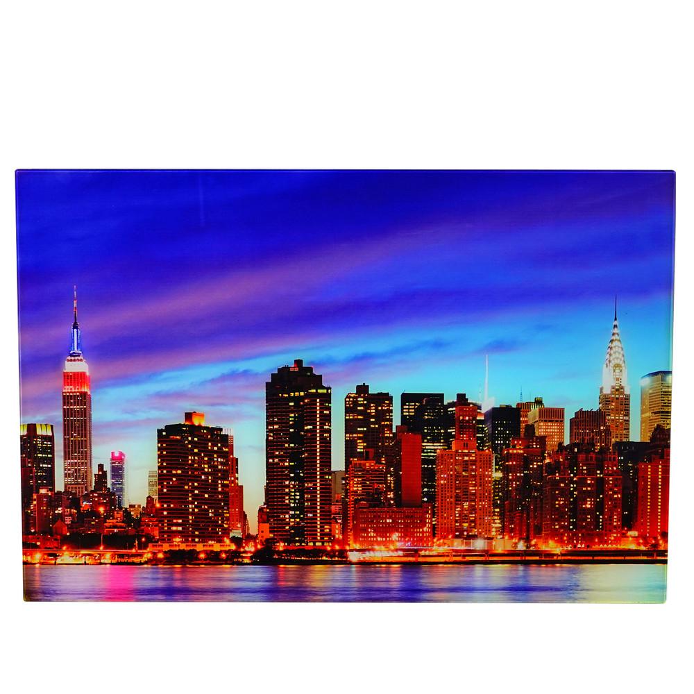 Glasbild t116 wandbild poster motiv 40x60cm new york bei arizondo kaufen - Wandbild new york ...