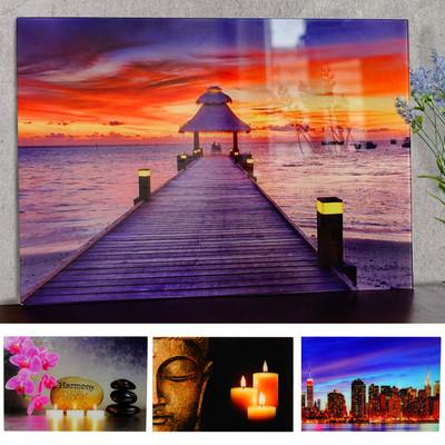Glasbild T116, Wandbild Poster Motiv, 40x60cm ~ New York – Bild 5