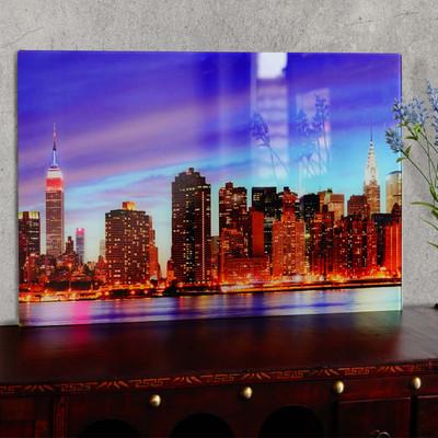 Glasbild T116, Wandbild Poster Motiv, 40x60cm ~ New York – Bild 2