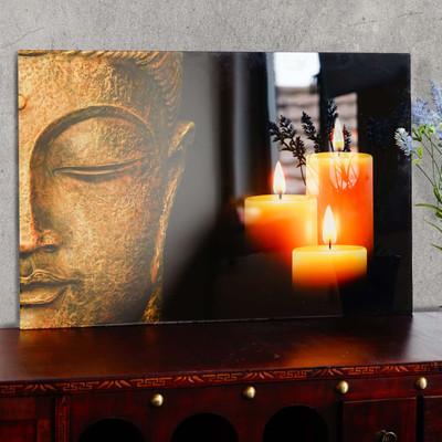 Glasbild T116, Wandbild Poster Motiv, 40x60cm ~ Buddha – Bild 2